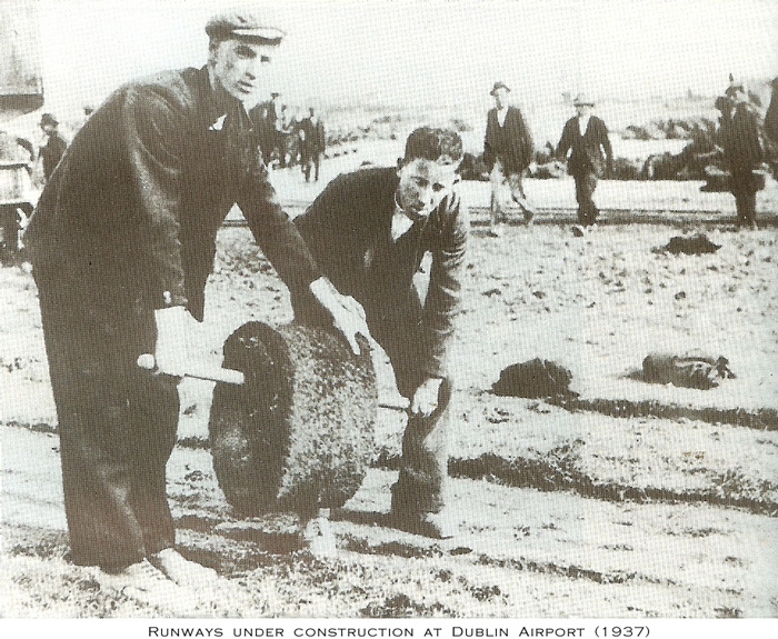 Grass runways construction, Dublin Airport 1937